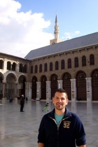 One of the most important sights in all of Syria, the Umayyad Mosque is also one of the oldest, largest, and holiest mosques in the world -- containing significant treasures of Islamic art and architecture.  A treasure itself, Damascus' Old City claims fame as the oldest continuously inhabited city in the world.  Adding even more to the city's allure (for me!), our family's centuries-old courtyard home is just a short walk away.