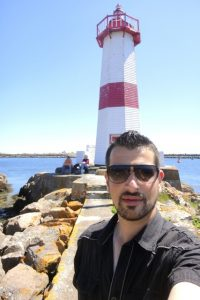 On this road trip through all the provinces of Maritime Canada, I happen to feature this picture of me in front of a lighthouse in France.  Quoi?!  That's because on my way from Saint John to St. John's, I made a stop at the only remaining French colony in North America, the quaint island territory of St-Pierre et Miquelon.
