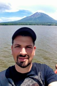 Ometepe is a magical place!  Two volcanoes on an island, inside of a lake!  You can hike to secluded beaches through a nature reserve full of monkeys, snakes, and butterflies, swim in a natural lagoon, climb a volcano, visit ancient historic sites, explore small towns, or just relax at lakeside beach bars!  All just an hour-long ferry ride away from the 'mainland' across the lake.  The volcano behind me is Concepción, the larger of the two, an active volcano that stands at 1600 meters tall.